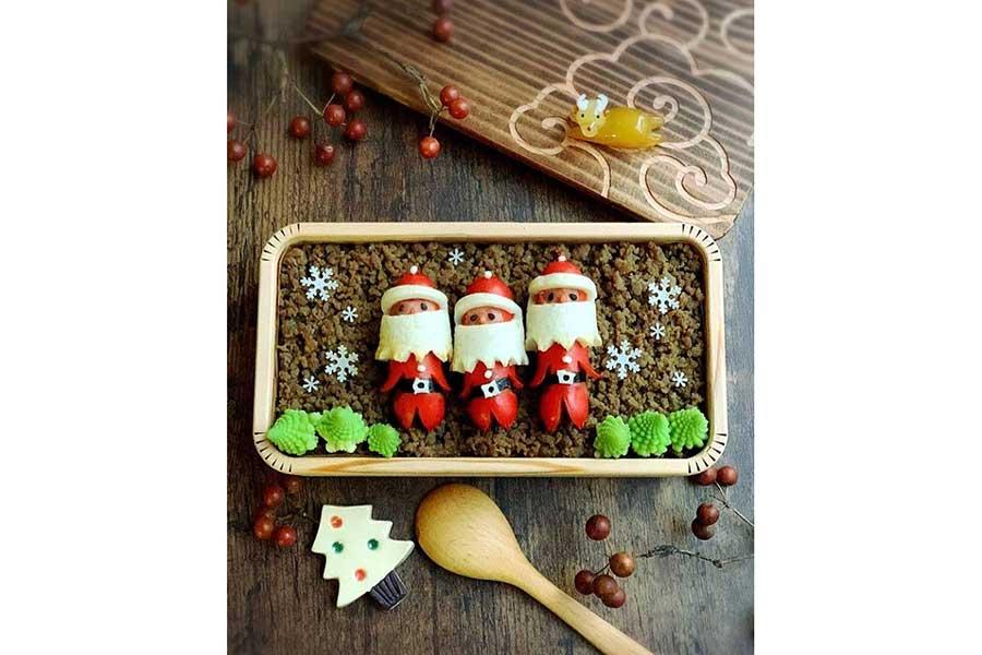 ロマネスコを添えてクリスマスカラーに【写真提供:sachico(sachigan226)さん】