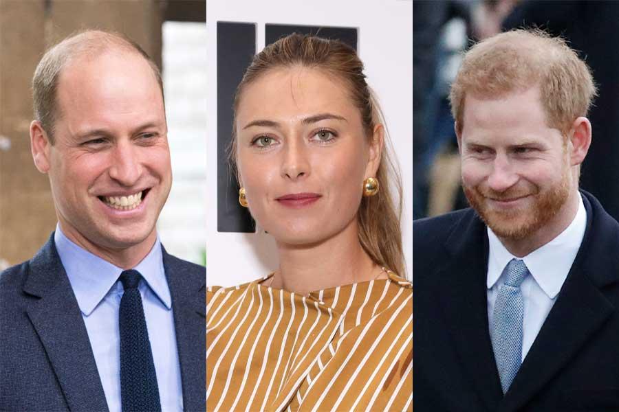 ウイリアム王子、マリア・シャラポワ、ヘンリー王子【写真:Getty Images、AP】
