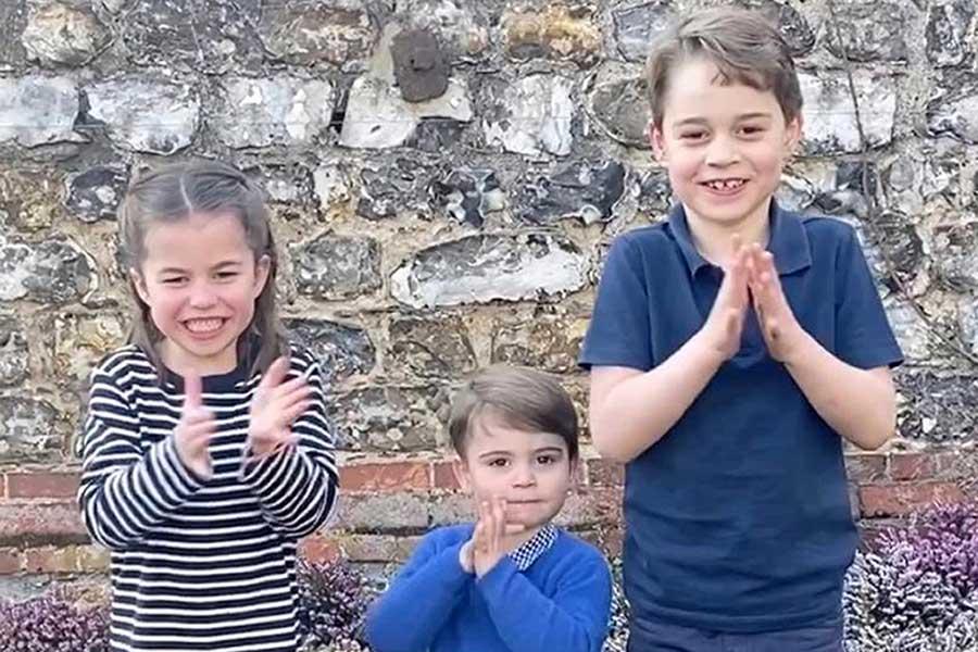 ウイリアム王子夫妻の子どもたちにもお茶目な瞬間が【写真:AP】