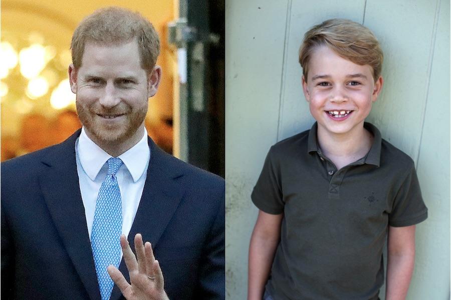 ヘンリー王子(左)とジョージ王子【写真:AP】