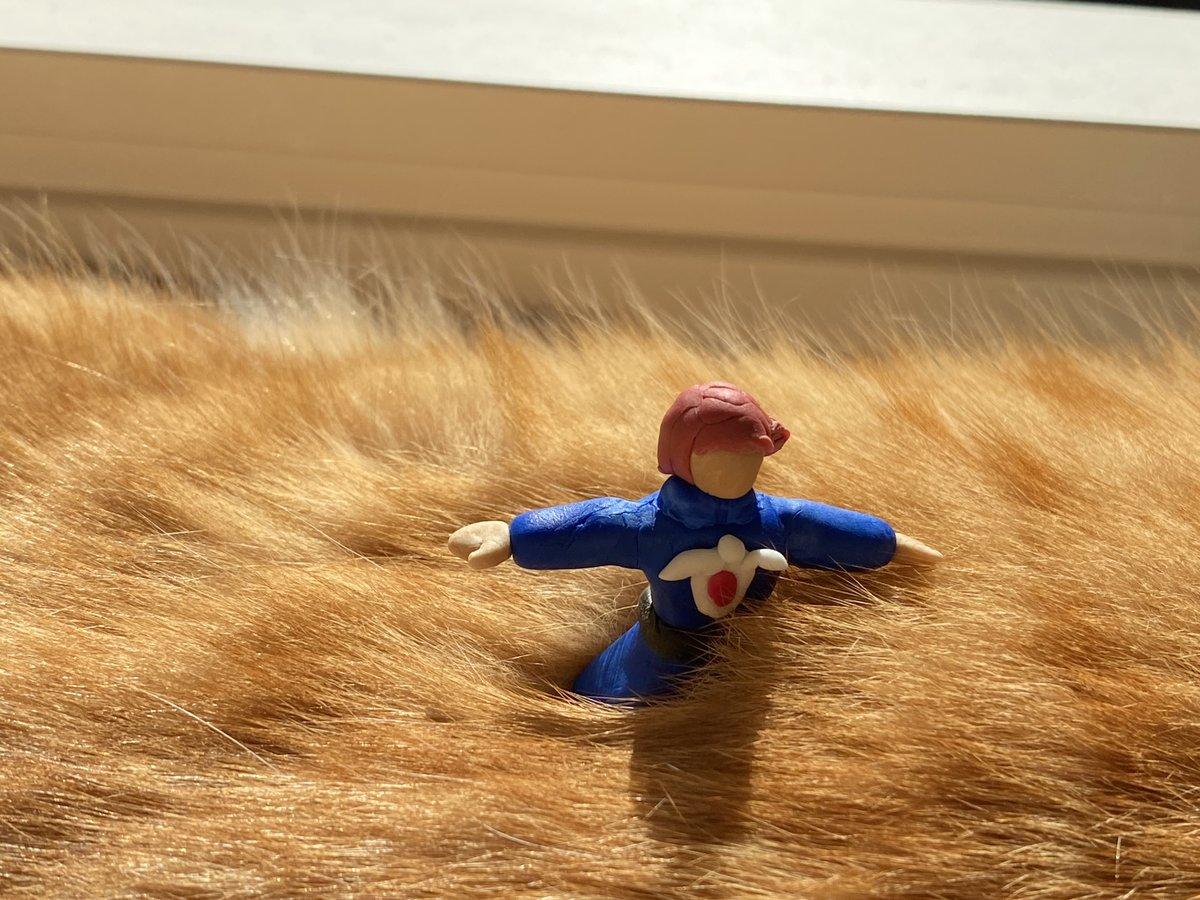 手作りのナウシカ人形が立っている場所は…?【写真提供:ねこのぽぅ(@nekono_paw)さん】