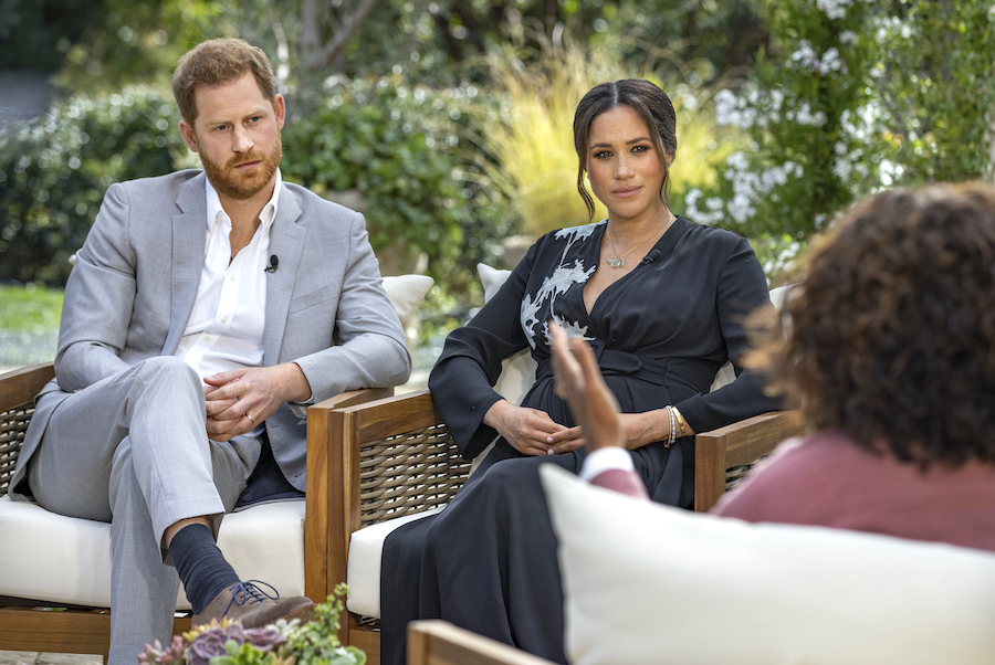 波紋を広げているヘンリー王子とメーガン妃のインタビュー【写真:AP】