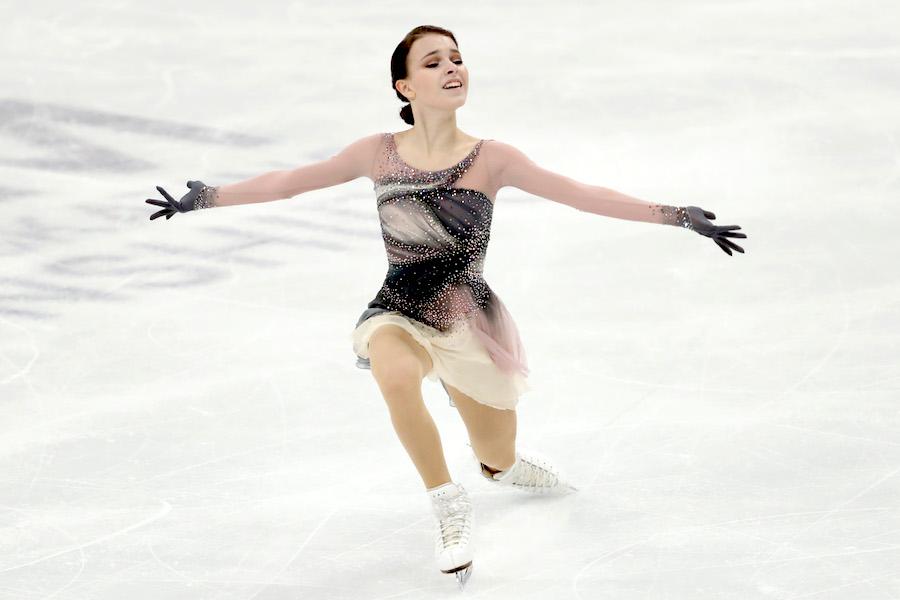 優勝したアンナ・シェルバコワ選手は上品な雰囲気【写真:Getty Images】