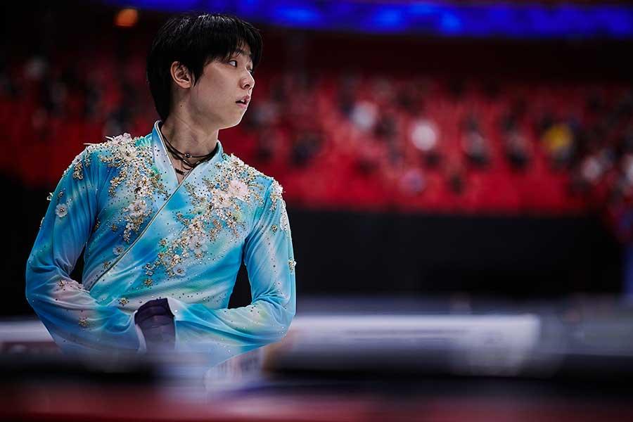 勇ましさと繊細さを同時に表現する衣装の羽生結弦選手【写真:Getty Images】