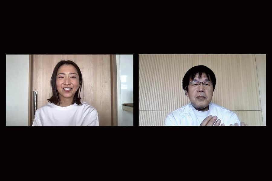 オンラインで対談した美馬アンナさんと義肢装具士の中村隆さん【写真:Hint-Pot編集部】