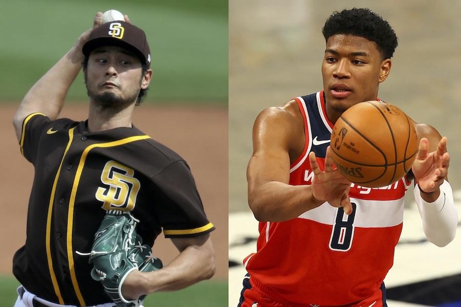 ダルビッシュ有投手(左)と八村塁選手【写真:Getty Images】
