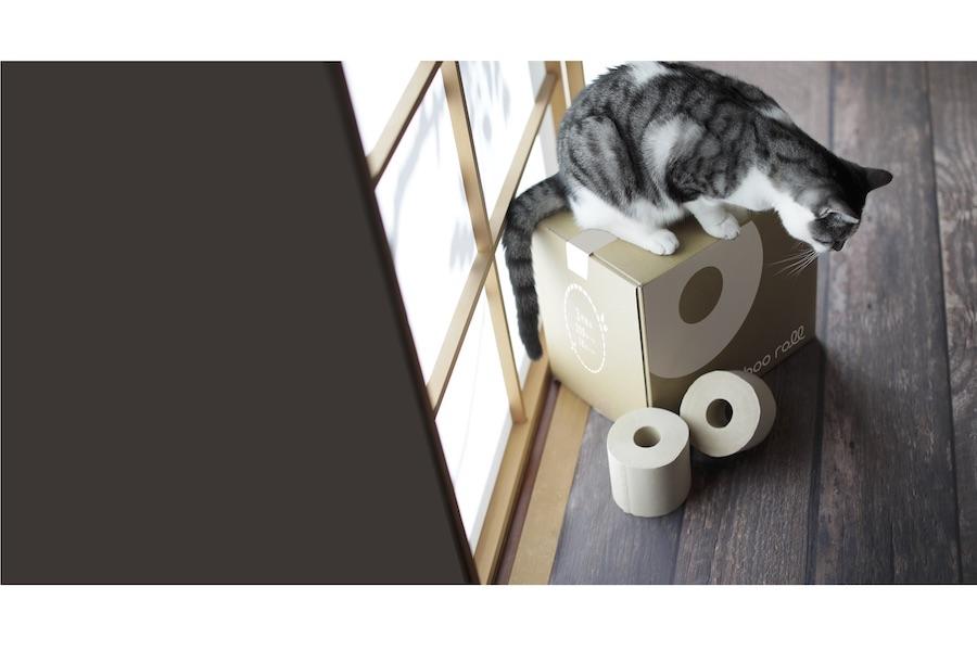 「身近なトイレットペーパーから変えてみては?」と提案する「BambooRoll」【写真提供:おかえり株式会社】