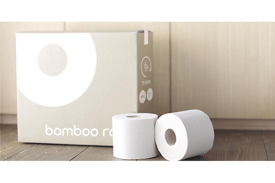竹トイレットペーパーの定期便サービス「BambooRoll」【写真提供:おかえり株式会社】