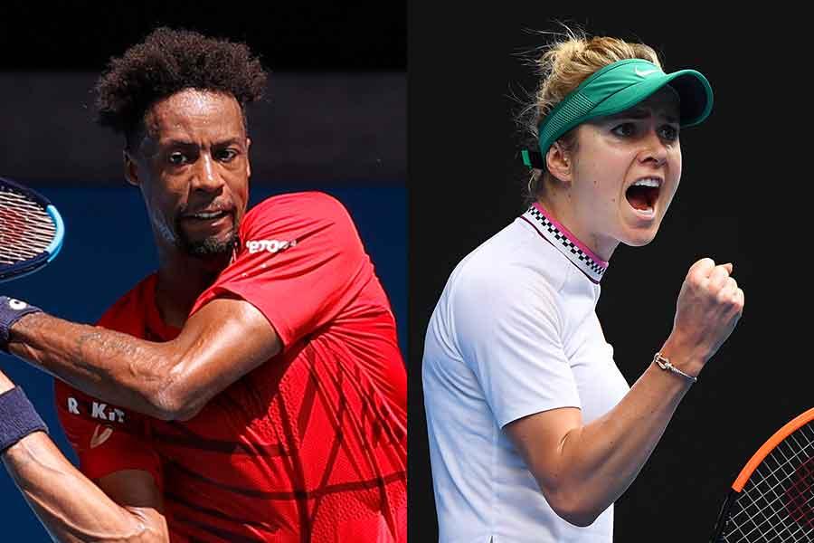 (左から)ガエル・モンフィス選手、エリナ・スビトリナ選手【写真:Getty Images】