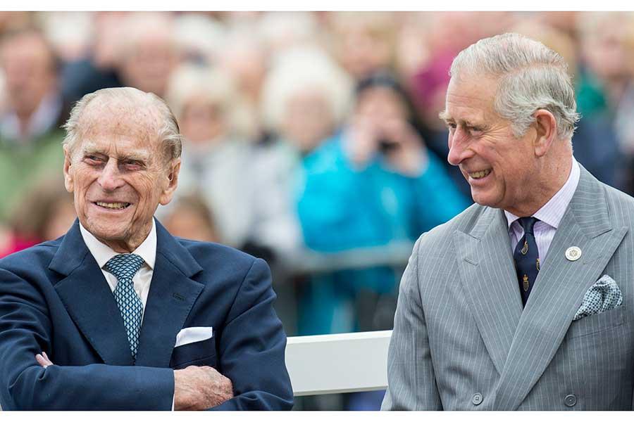 フィリップ殿下とチャールズ皇太子【写真:Getty Images】