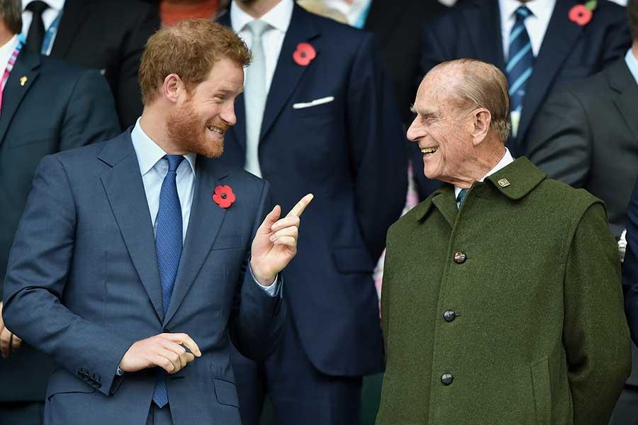 ヘンリー王子とフィリップ殿下【写真:Getty Images】