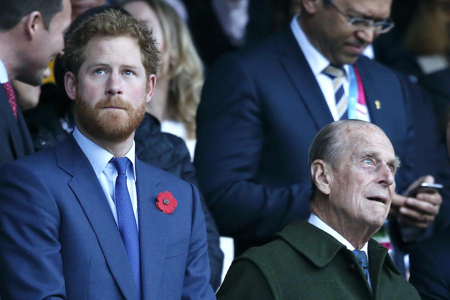 ヘンリー王子とフィリップ殿下【写真:AP】
