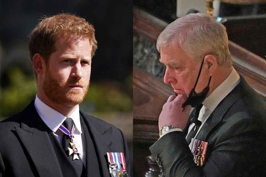 ヘンリー王子とアンドリュー王子【写真:AP】