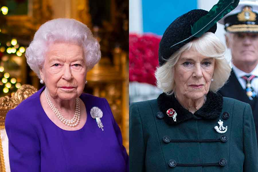 エリザベス女王とカミラ夫人【写真:AP】