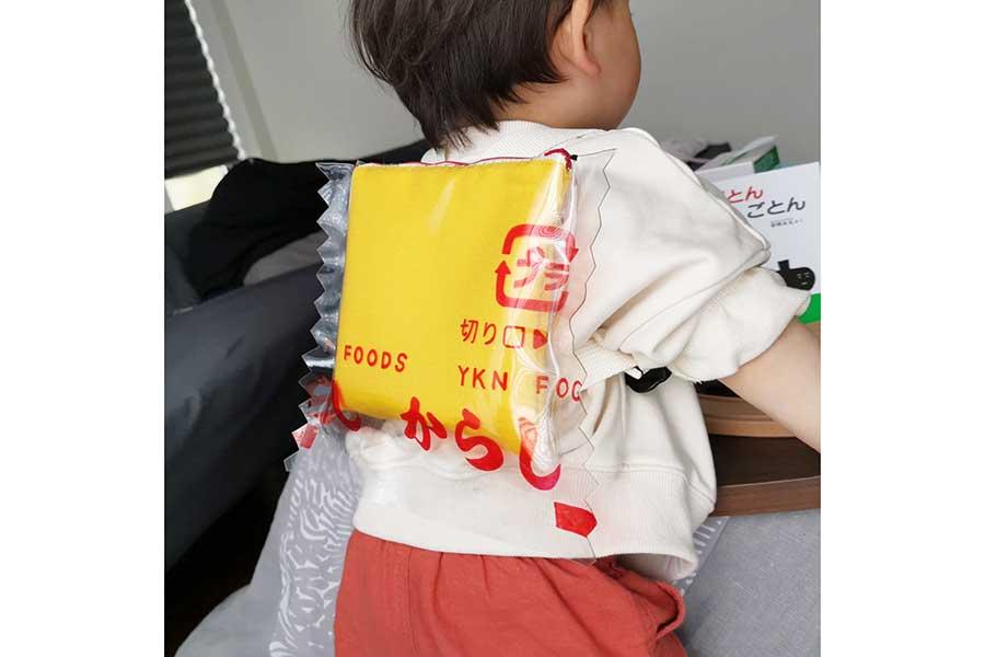 再現性の高さが話題になった「練りからしの小袋」リュック【写真提供:yukana(@yukana_scrap)さん】