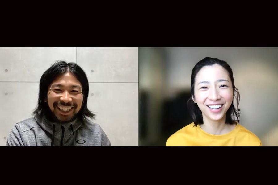 オンラインで対談した美馬アンナさんと元甲子園球児の曽我健太さん【写真:Hint-Pot編集部】