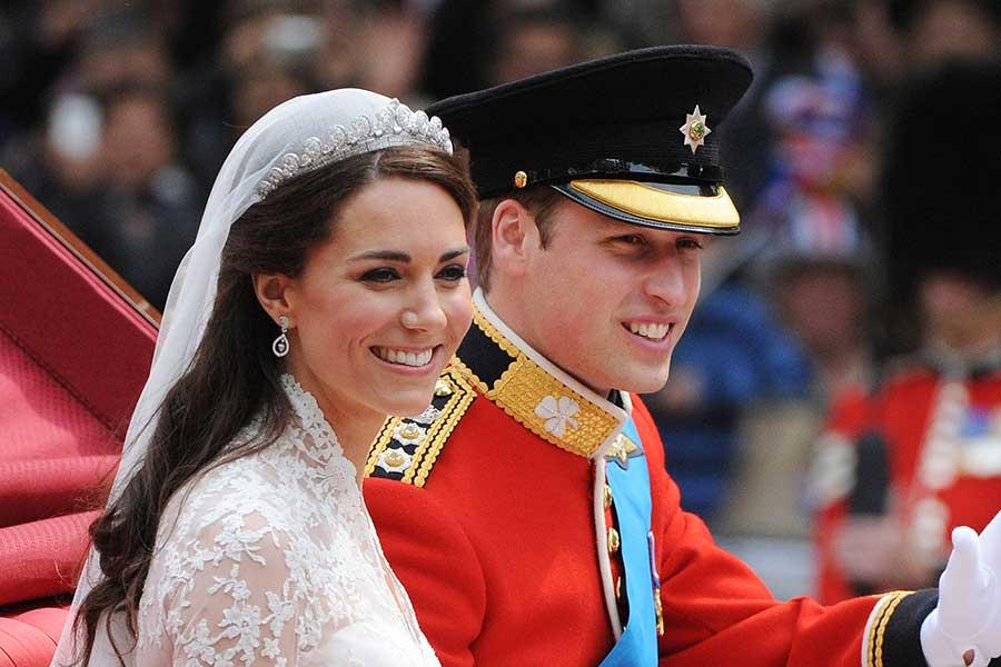 式当日のウイリアム王子とキャサリン妃【写真:Getty Images】