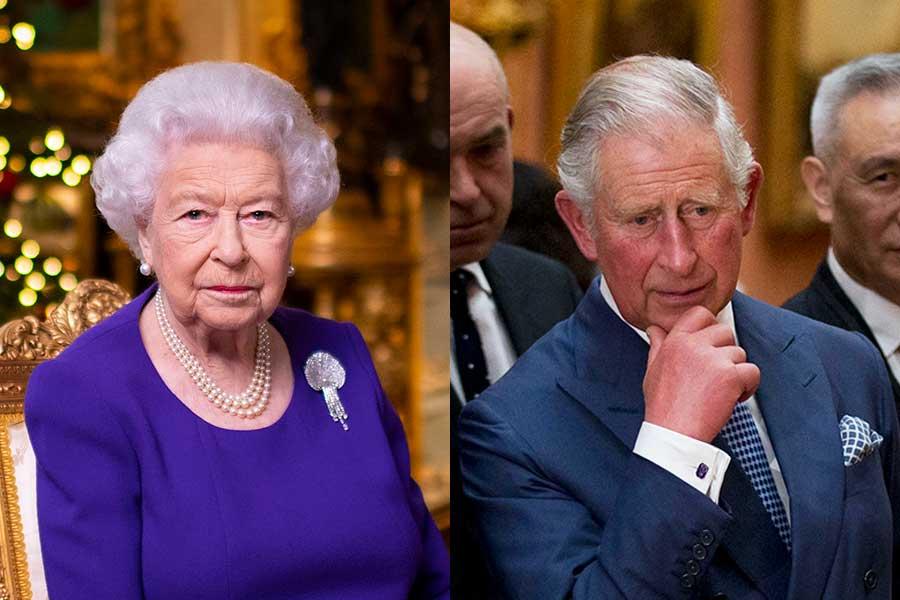エリザベス女王とチャールズ皇太子【写真:AP】