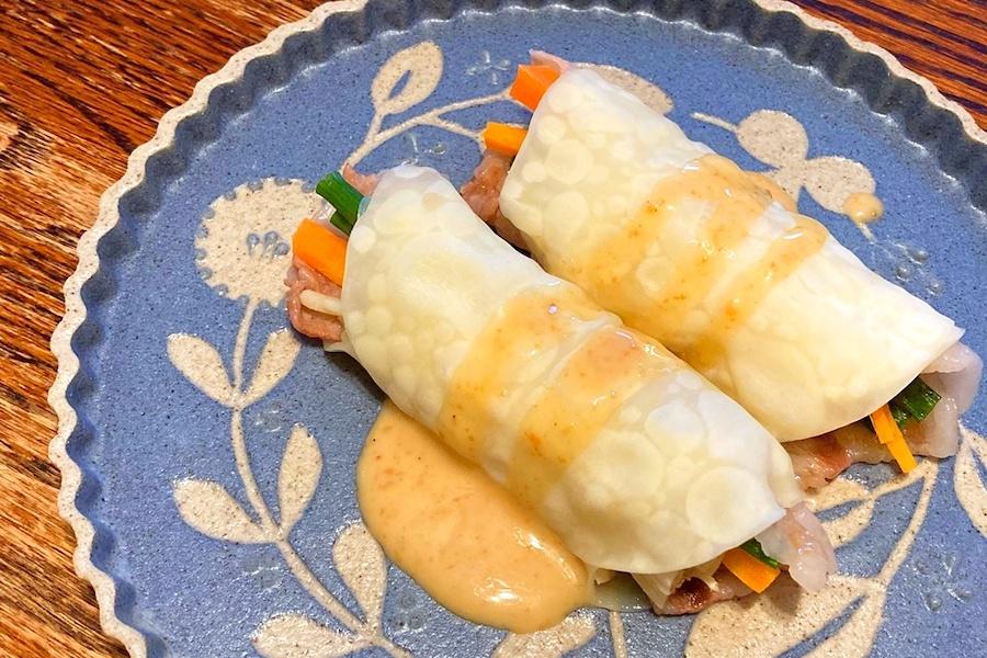 野菜をおいしくたっぷり摂れる! 餃子の皮の肉野菜巻き【写真:和栗恵】