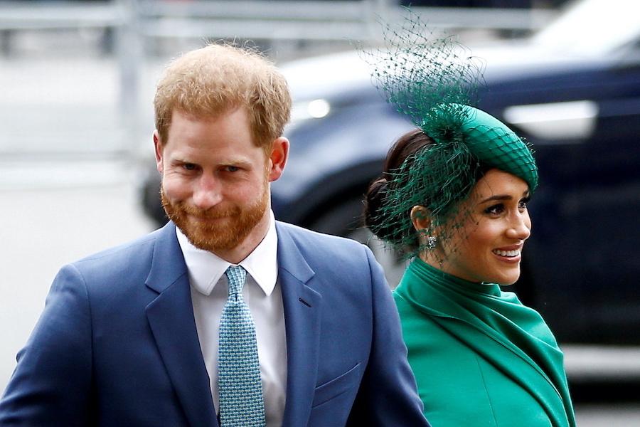 ヘンリー王子とメーガン妃【写真:ロイター】