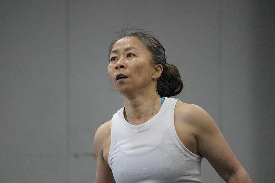 59歳にしてクロスフィットの世界大会に本格参戦した米倉さん。還暦を目前にしてもなお挑戦を続けられる考えとは【写真:伊藤万利子】