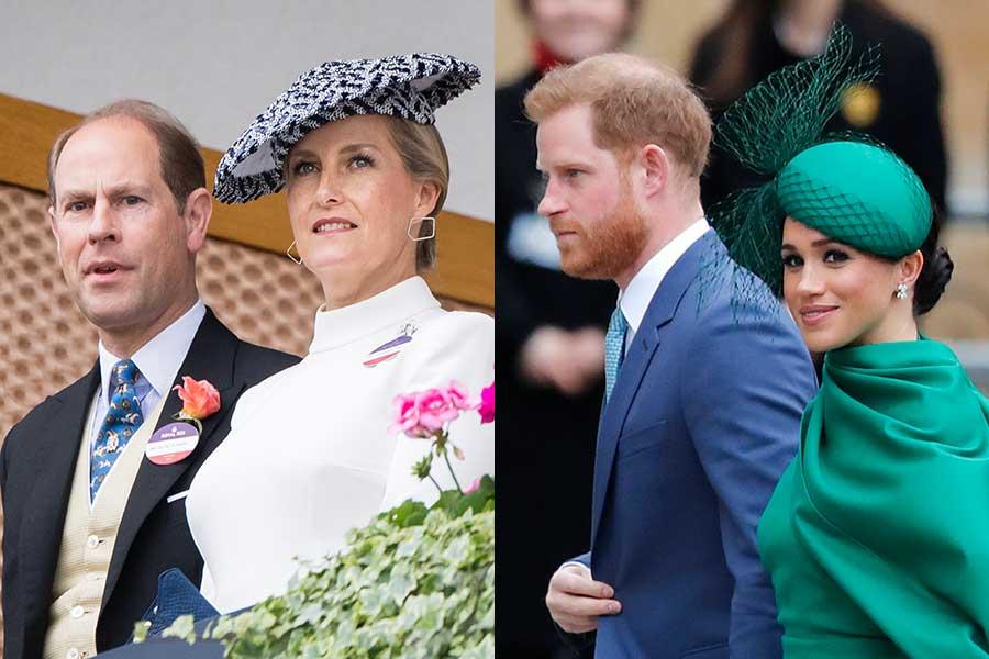 エドワード王子とソフィー妃、ヘンリー王子とメーガン妃【写真:Getty Images、AP】
