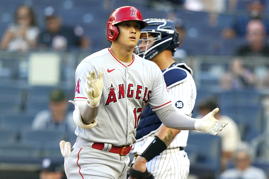 ヤンキースタジアムで本塁打を放った大谷翔平選手【写真:AP】