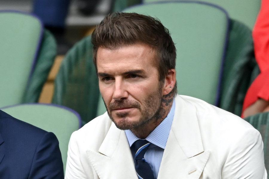 今月9日にテニスのウィンブルドン選手権を観戦した際のデビッド・ベッカムさん【写真:Getty Images】