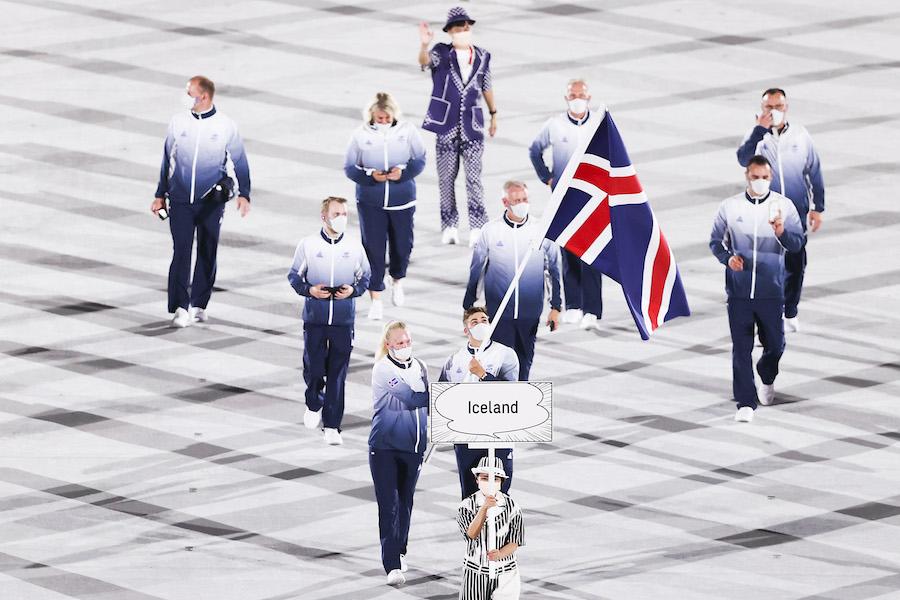 東京五輪に出場したアイスランド選手団【写真:Getty Images】