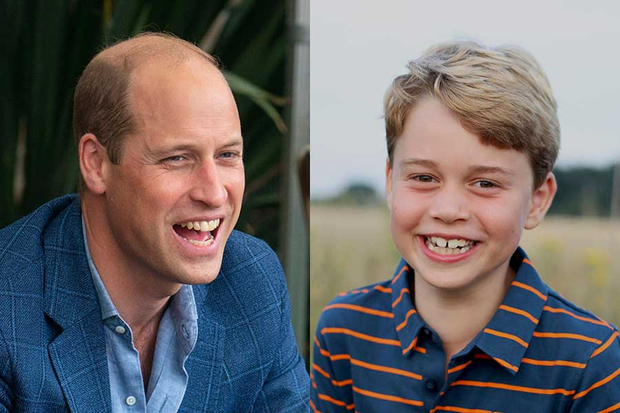 ウイリアム王子と長男ジョージ王子【写真:AP】