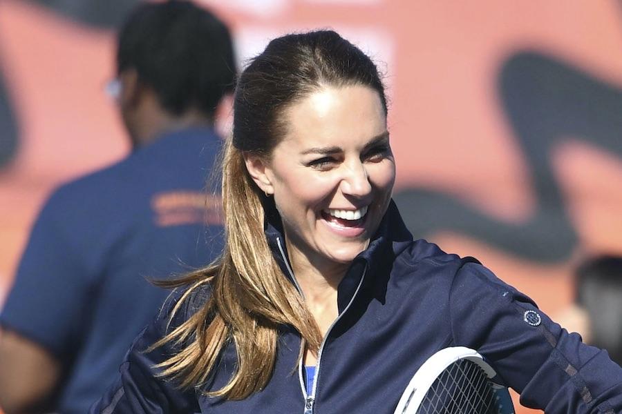 24日に国立テニスセンターを訪問したキャサリン妃【写真:AP】