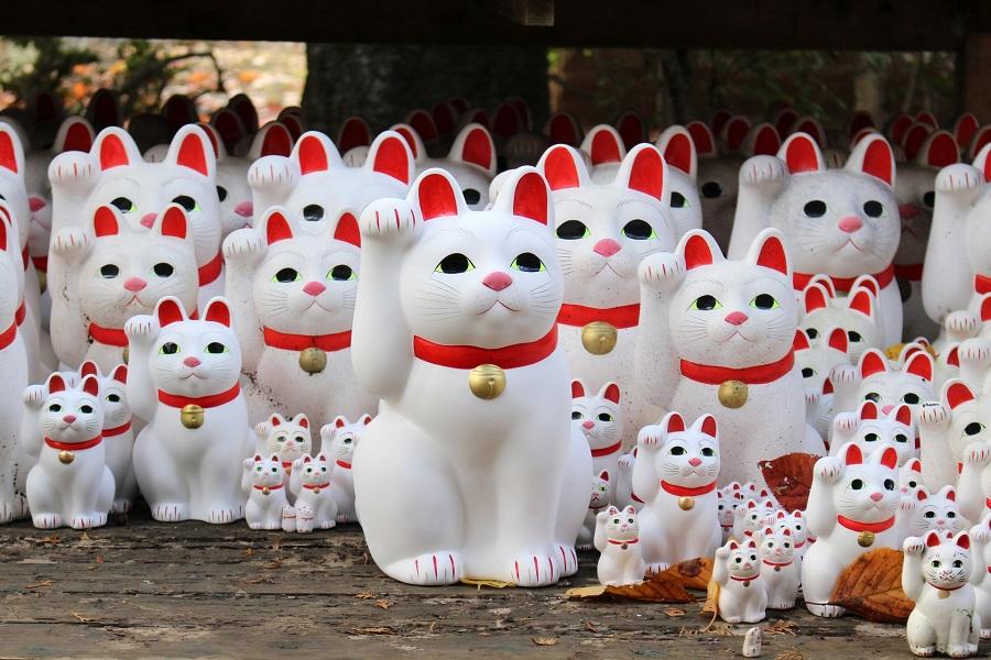 縁起物で知られる招き猫(写真はイメージ)【写真:写真AC】