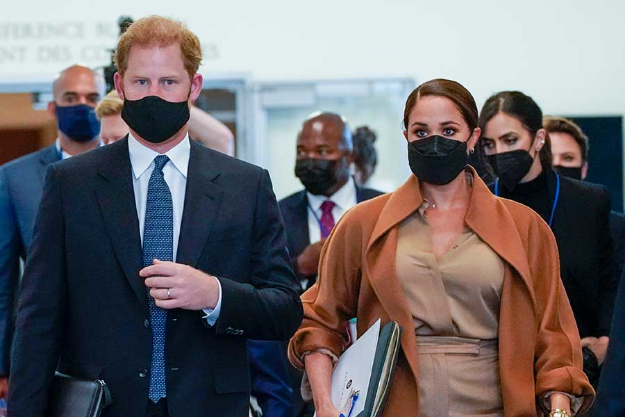 ヘンリー王子とメーガン妃【写真:AP】