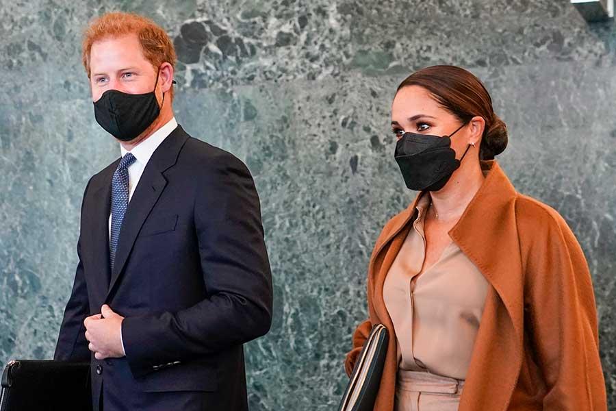 ニューヨークを訪問したヘンリー王子とメーガン妃【写真:AP】