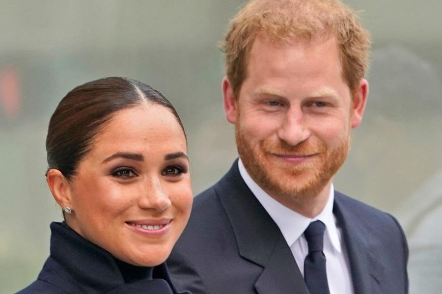 ニューヨーク訪問中のヘンリー王子夫妻【写真:AP】