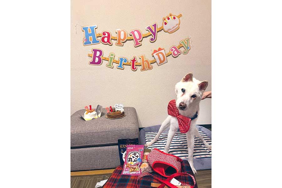 21歳の誕生日を家族にお祝いしてもらったもぐちゃん【写真提供:もぐちゃん【21歳】(@moguchan105)さん】